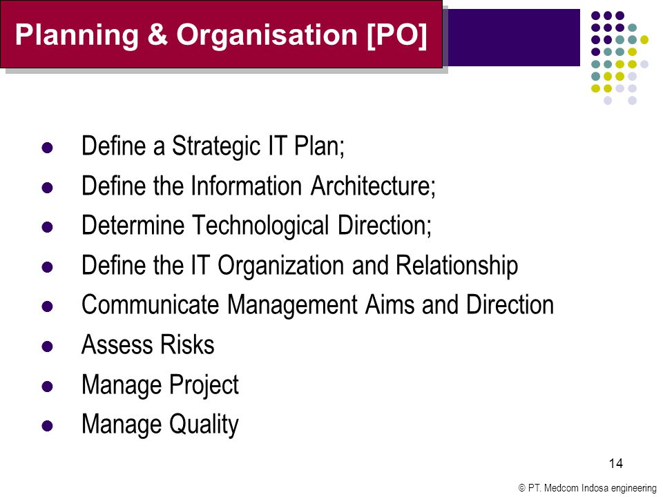 Planning & Organisation [PO]
